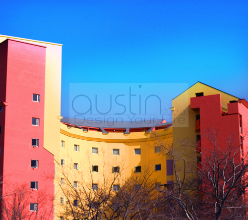 Colourfull building - 2160x1920sample